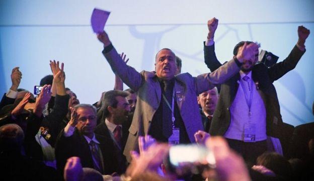 Soçi'deki Suriye Ulusal Diyalog Kongresi'ne katılan bazı delegeler