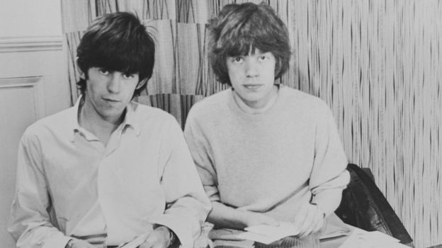 Keith Richards junto a Mick Jagger en 1963.