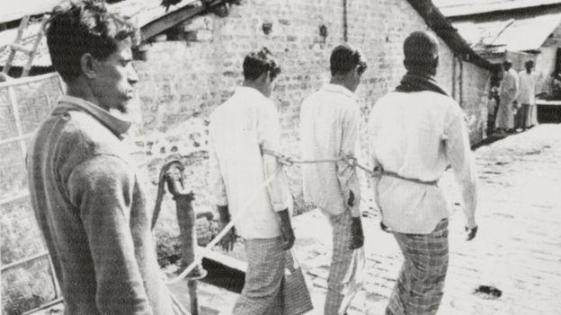 ১৯৭১এ পাকিস্তানী বাহিনীকে সহায়তার অভিযোগে কয়েকজনকে ধরে নিয়ে যাওয়া হচ্ছে : ফাইল ছবি
