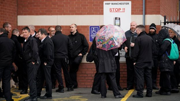 Protesters at Manchester Prison