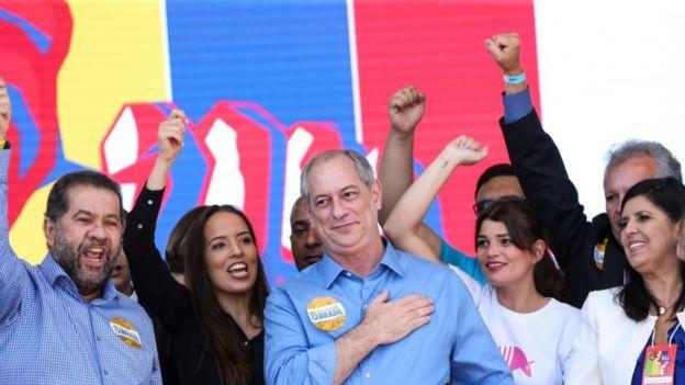 Ciro Gomes no lançamento de sua candidatura presidencial