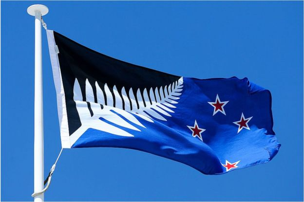The tangled tale of New Zealand\'s flag debate - BBC News