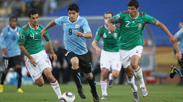 Partido México y Uruguay en 2010