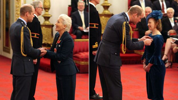 Emma Thompson and Sarah Gordy with Prince William