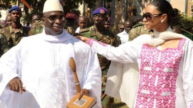 الرئيس السابق يحي جامع وزوجته