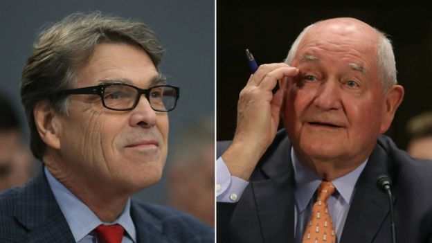 """Energy Secretary Rick Perry and Agriculture Secretary Sonny Perdue are members of the Bible Study. """"Ralph Drollinger is my life instructor,"""" says Perry"""