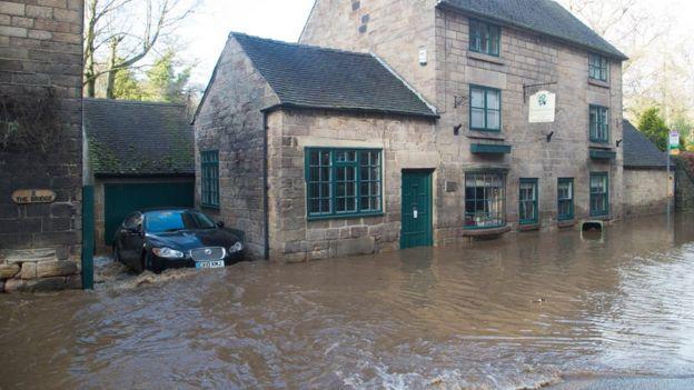 Village Main - News Bbc Water Burst Derbyshire Floods