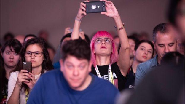 Público en la presentación de Stadia en San Francisco.