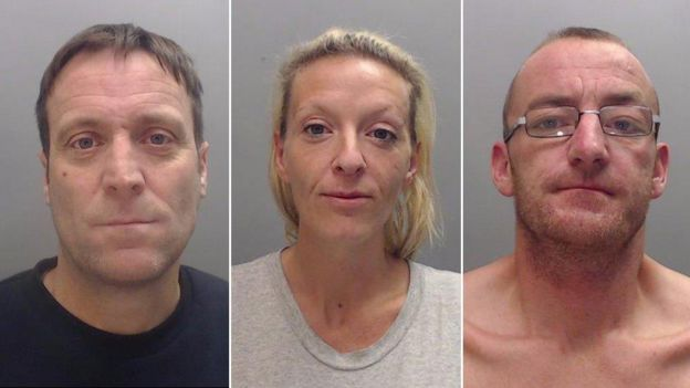 Andrew Daniels, 41, Clare Smith, 36, and Dean Brettle, 37,
