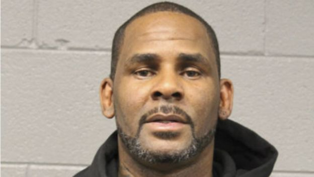 R Kelly after arriving in court