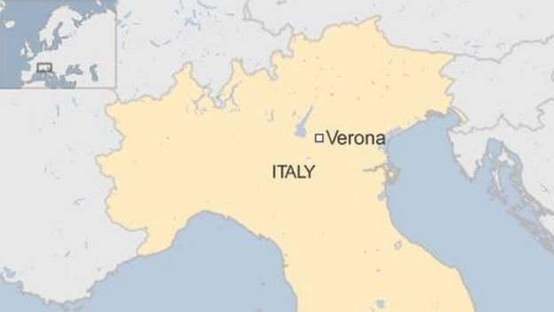 Map Of Italy Showing Verona.Italy School Bus Crash And Fire Leaves 16 Dead Bbc News