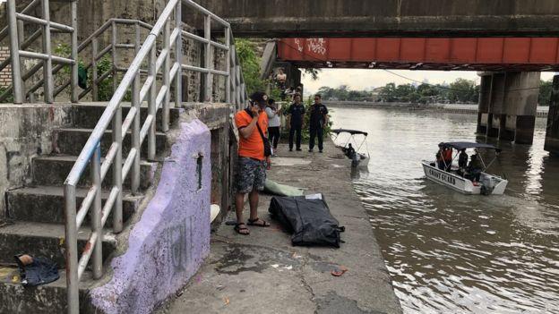 Cuerpo hallado en el río Pasig