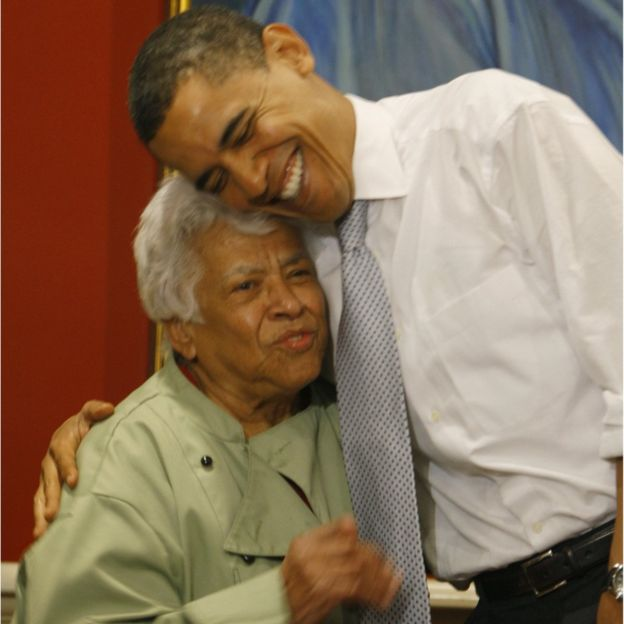 obama and leah chase