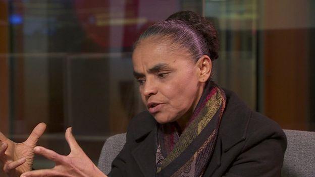 Marina Silva em entrevista à BBC