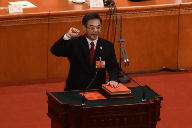 周强在2013年当选最高人民法院院长,此前,他担任湖南省委书记。