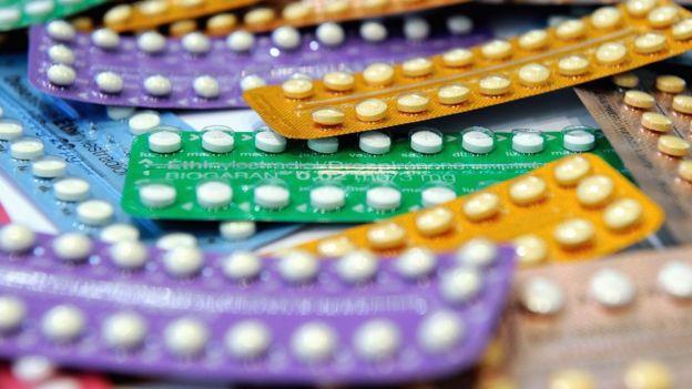 Cartelas de pílulas anticoncepcionais