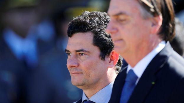 Moro e Bolsonaro em Brasília em junho de 2019