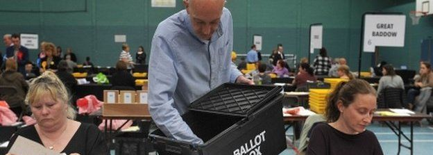 Counting begins in Essex