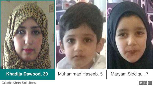 Khadija Dawood, 30, with her two children