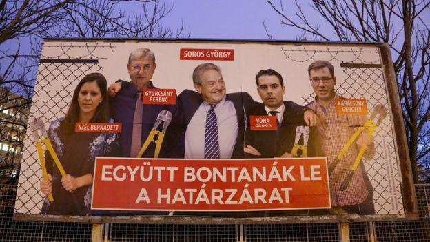 Anti-Soros and anti-opposition poster