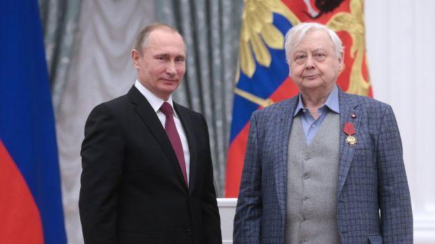 Олег Табаков и Владимир Путин, Кремль, 2015 год