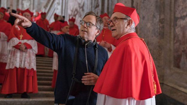 Fernando Meirelles e o ator Jonathan Pryce