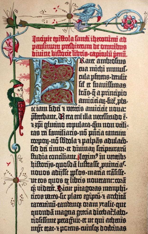 Biblia de Gutenberg.