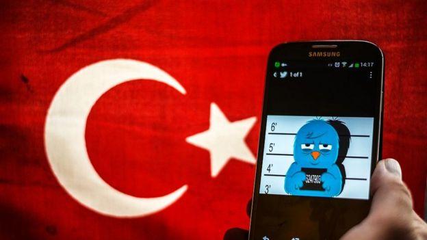 Protesta contra la censura en Turquía.
