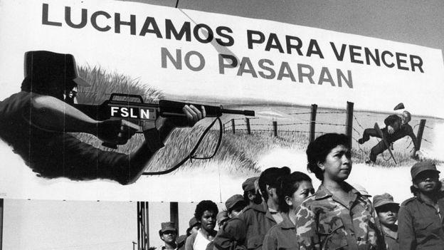 Milicianos en Nicaragua