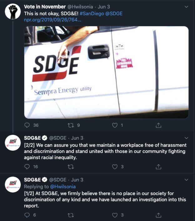 Captura de pantalla del post de Twitter en el que se comartió la foro de Cafferty
