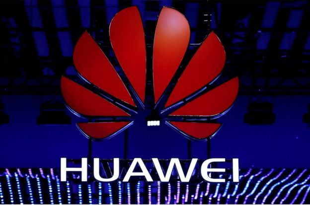 The Huawei logo is seen during the Mobile World Congress in Barcelona, Spain, February 26, 2018. REUTERS/Yves Herman/File Photo