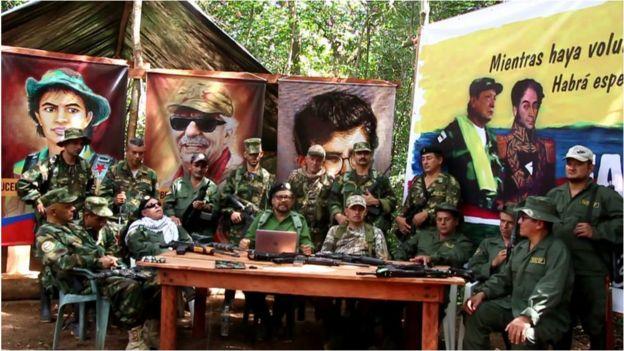 Un grupo de guerrilleros de Colombia