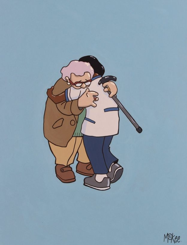 National Hug Service by Pete McKee