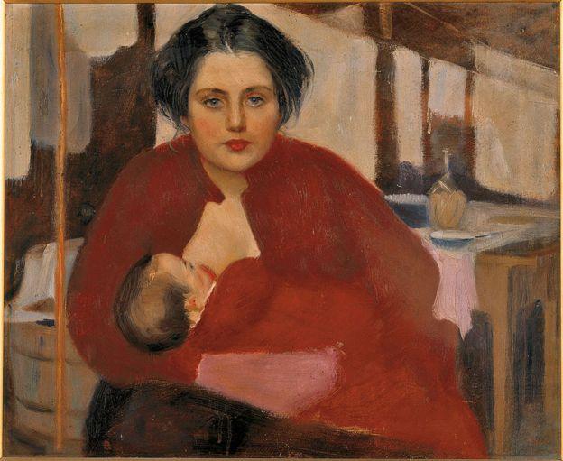 Bitta mientras da pecho, de Baccarini Domenico, 1904