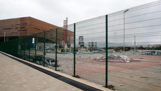 Parque olímpico em maio de 2017