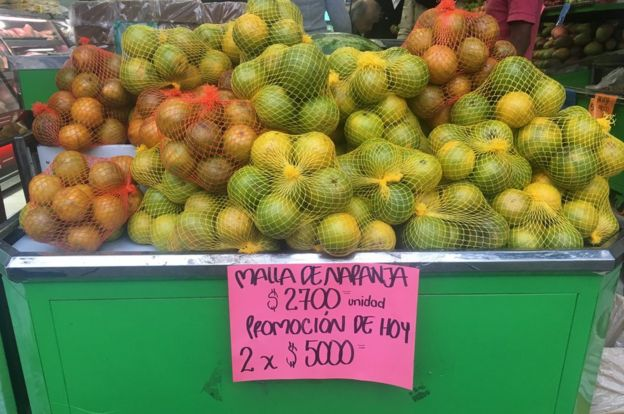 Naranjas en venta.