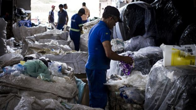 Cooperativa de reciclagem no Grande Recife