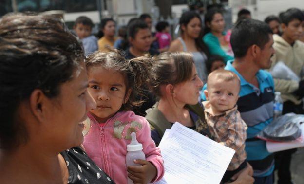 Emigrantes centroamericanos en Texas.