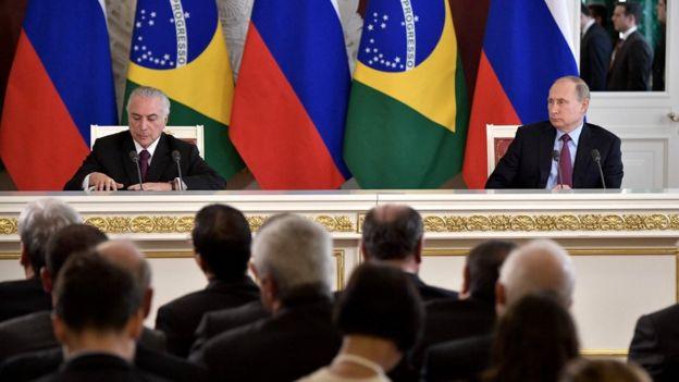 Michel Temer e Vladimir Putin