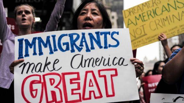 Manifestación en defensa de los inmigrantes