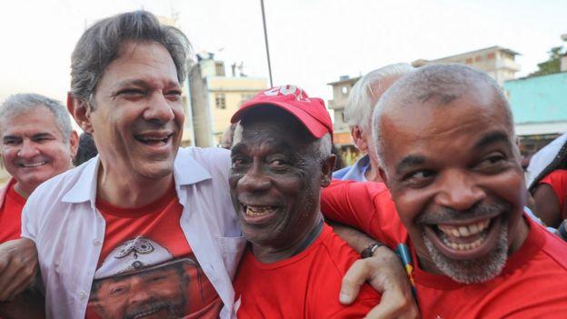 Fernando Haddad em evento político em Salvador, no final de agosto, quando ainda era vice na chapa de Lula