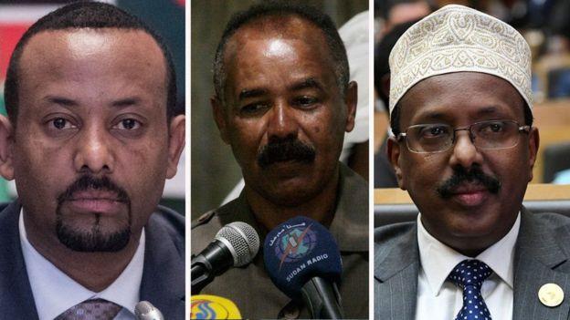 Madaxda Itoobiya, Eritrea iyo Soomaaliya