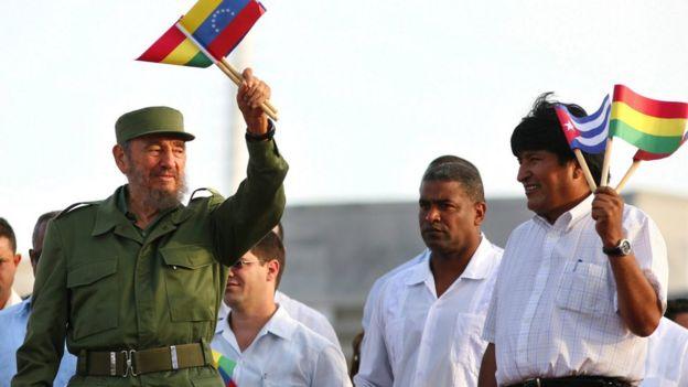 Fidel y Evo