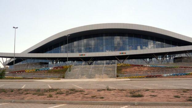 Fachada do Aeroporto Internacional de Nacala, em Moçambique, no final de 2017