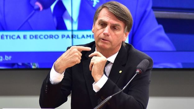 O deputado Jair Bolsonaro na Câmara