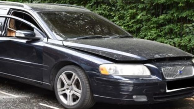 Volvo estate believed to have been used by the suspects