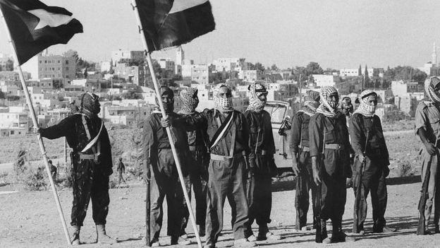 Milicianos palestinos do Fatah em 1970