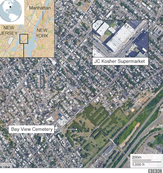 Map of the crime scene