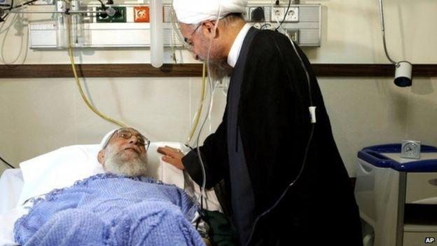 Ayatollah Khamenei in hospital