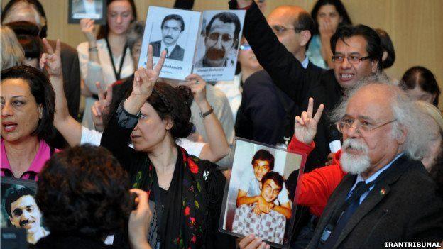 """سال ۱۳۹۱دادگاه نمادین در شهر لاهه (هلند) که خود را یک دادگاه بین المللی مردمی معرفی میگرد، پس از 9 ماه تحقیق در رای نهایی خود اعلام کرد حکومت ایران در فاصله سالهای ۱۹۸۹-۱۹۸۰ مرتکب """"جنایت علیه بشریت"""" شده است."""